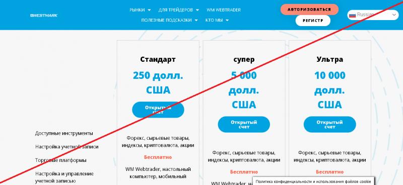 WestMark – Реальные отзывы о westmark.cc